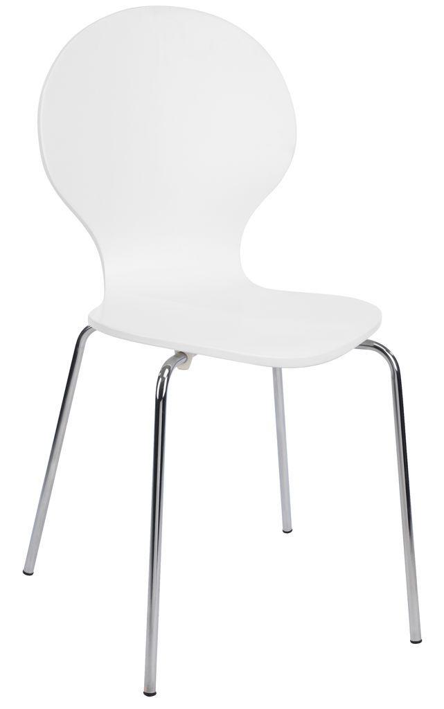 Ruokapöydän tuoli TOMMERUP kromi/valk.   JYSK