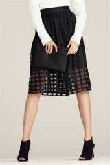 Black Check Mesh Skirt (664094X53) | £48