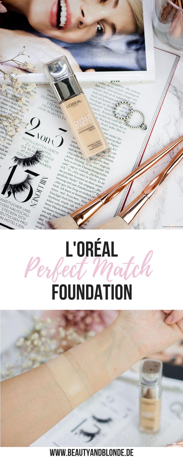 Review zur beliebten Perfect Match Foundation von L'Oréal, die es günstig in der Drogerie zu kaufen gibt. Insgesamt sind 29 Farben erhältlich!