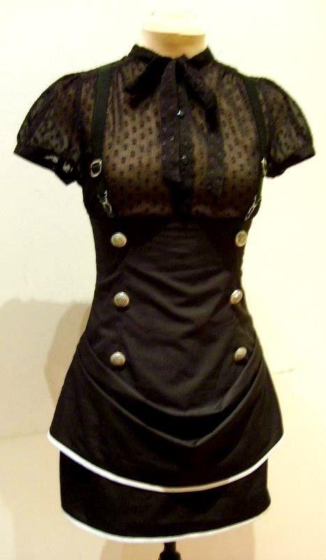 Black aviator high waisted skirt by blackmirrordesign on Etsy