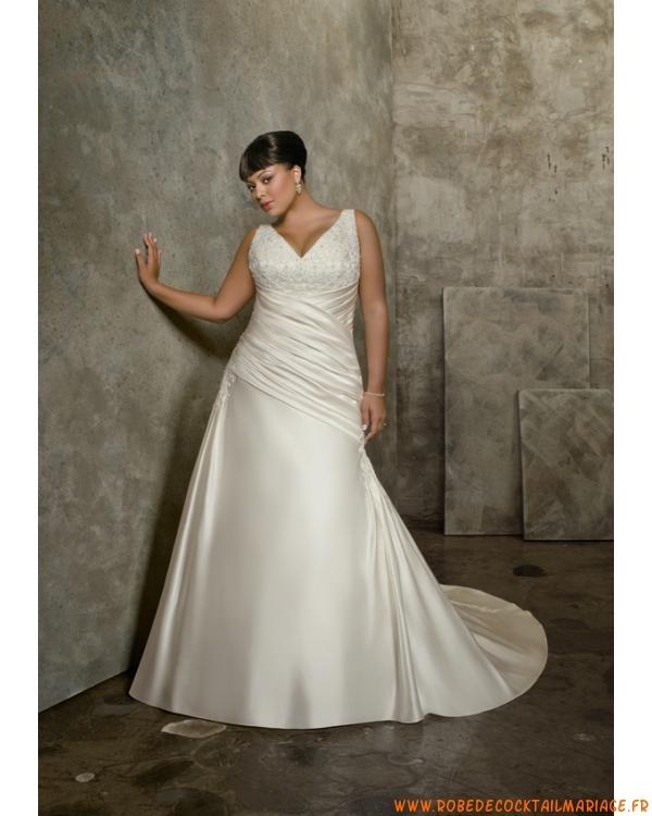 Boutique robe de mariée 2012 grande taille bretelles décor...