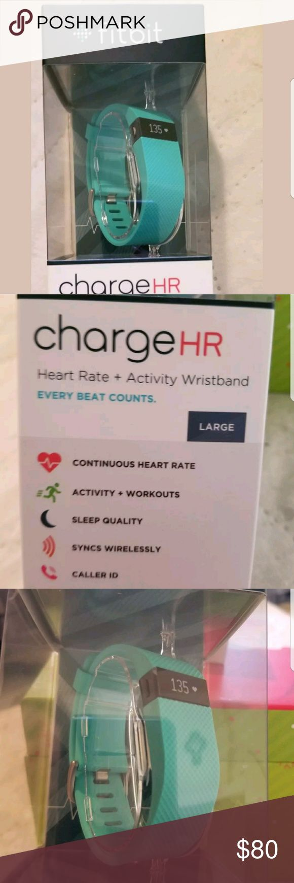 Fitbit Charge HR Size large Type: Wristband  Function: Heart Rate Monitor, Pedometer  Feature: With Calorie Counter, With Sleep Tracker,  fitbit Other