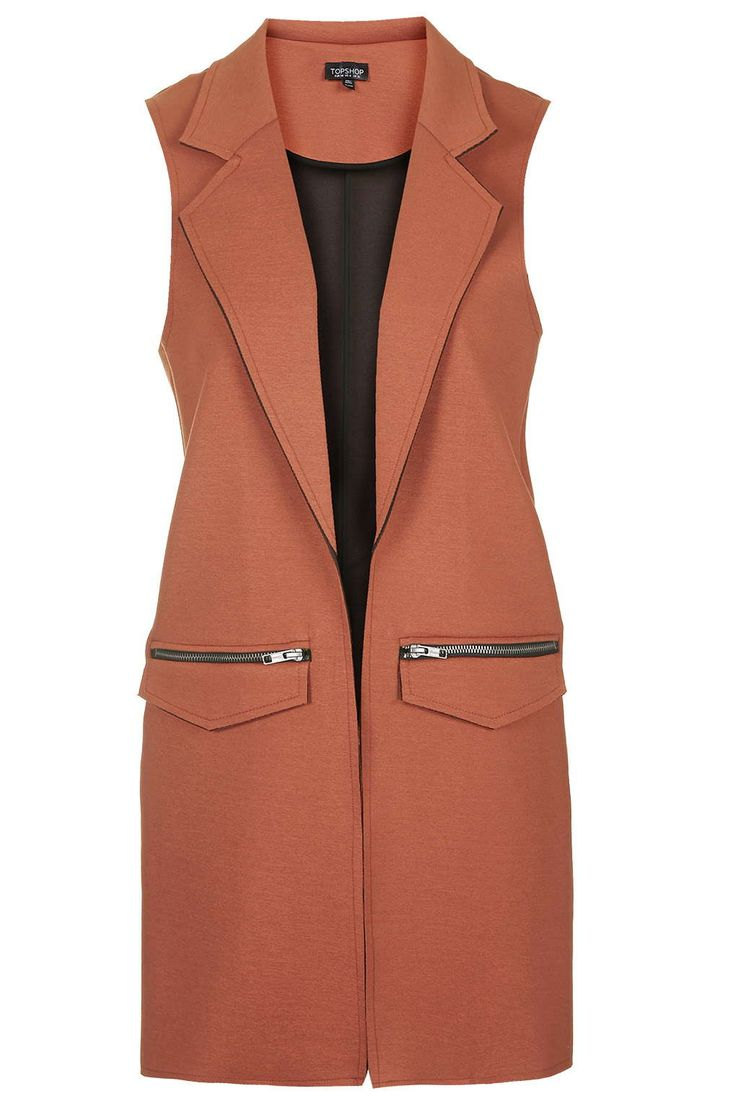 Raw Edge Sleeveless Vest - under $100 #spring2016