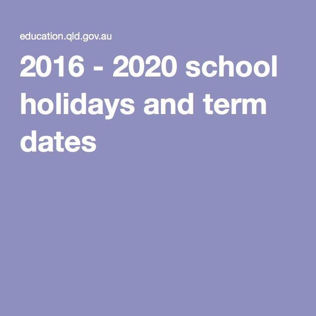 2016 - 2020 school holidays and term dates  Term 1 holidays March 31(fri)-April 17 (mon)