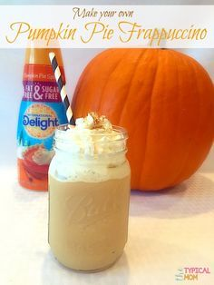 EASY pumpkin spice frappuccino recipe you can make right at home with just a few ingredients. Delicious and really simple to make. Great copy cat recipe. #delightfulmoments #ad @walmart
