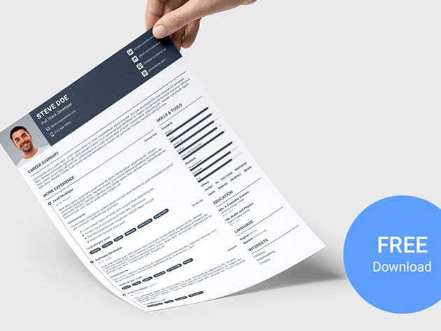 Devresume Sketch Free Sketch Resume Template For Software Developers In 2020 Resume Template Software Development Templates