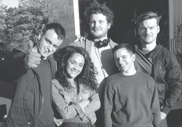 Cast and Director, Joe Gilgun, Matt Stokoe, Nathan McMullen, Karla Crome and William McGregor. MisFits 5.