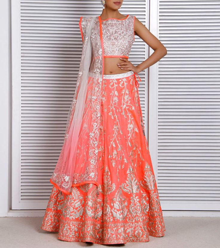 Pink Dupion Silk Lehenga Set by Diva'ni #lehenga #choli #indian #shaadi #bridal #fashion #style #desi #designer #blouse #wedding #gorgeous #beautiful