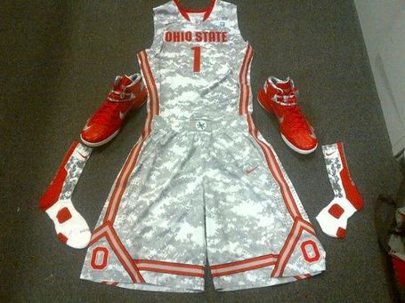 Ohio State Buckeyes basketball camouflage uniforms
