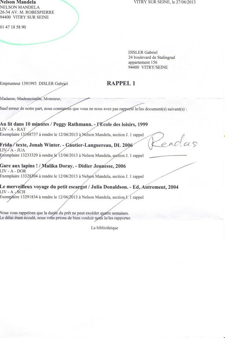 La bibliothèque Nelson Mandela de Vitry-sur-Seine devrait changer son en-tête pour ses courriers!