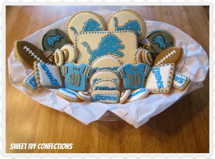 Detroit Lions Cookies...@Sweet Ivy Confections #PureMichigan