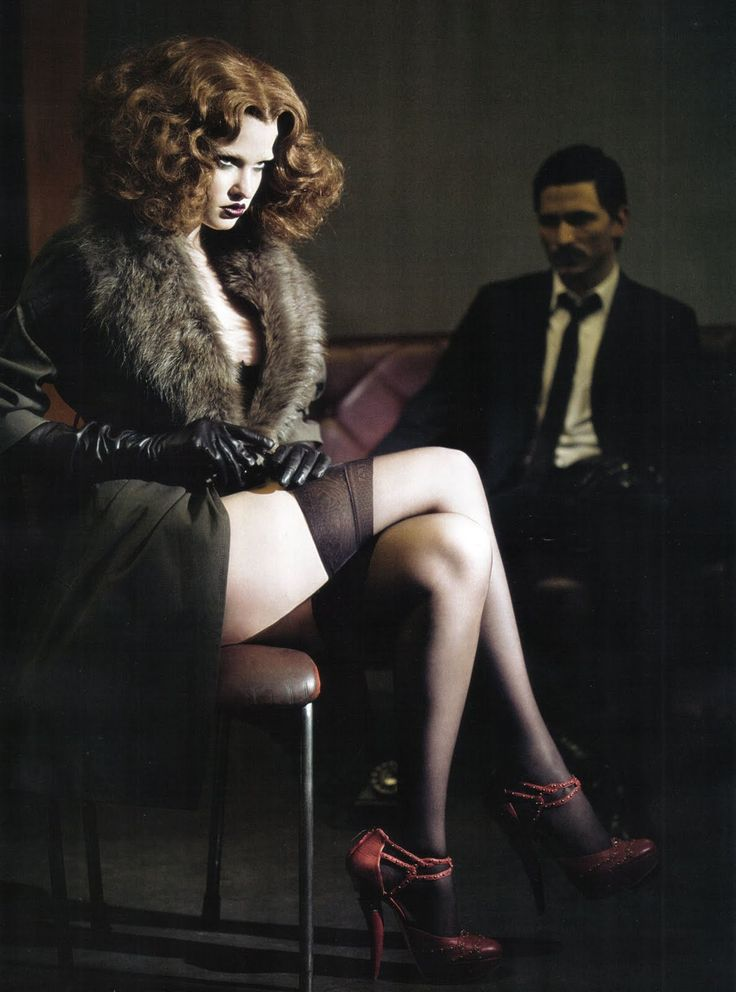 Vogue Italia - Paolo Roversi | brunette | sexy | dominatrix | sexy | hot | male | female | suit | stockings | lingerie | fur | leather gloves