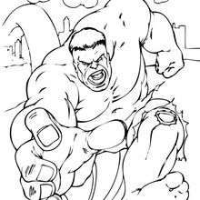 Hulk Running Coloring Page Super Heroes Coloring Pages