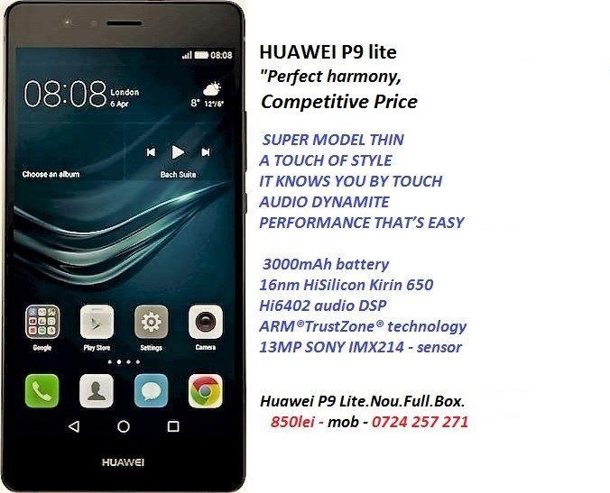 Huawei P9 Lite.Nou.Full.Box.Garantie.24luni 850lei-mob-0724 257 271