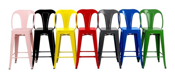Chaise de bar Indus jaune lot de 2 - ManoMano