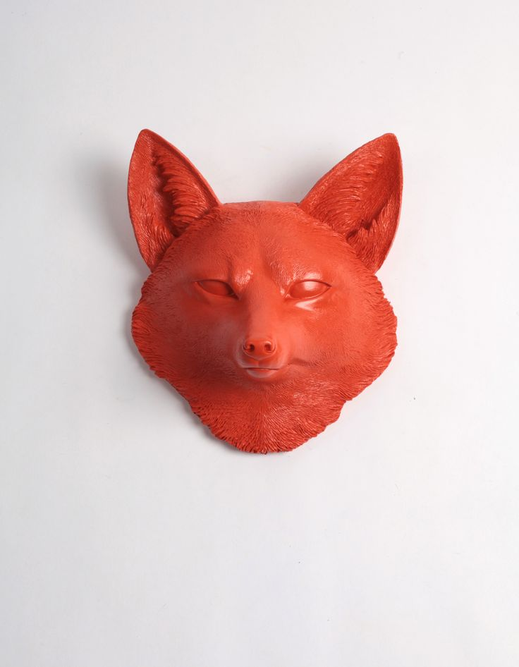 The Sylvester in Orange, Faux Taxidermy Fox Decor Head