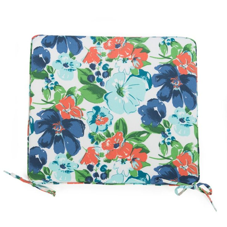 Coral Coast Classic 21 x 19 in. Outdoor Furniture Seat Pad Garden Floral - M029-PC137-GARDEN FLR