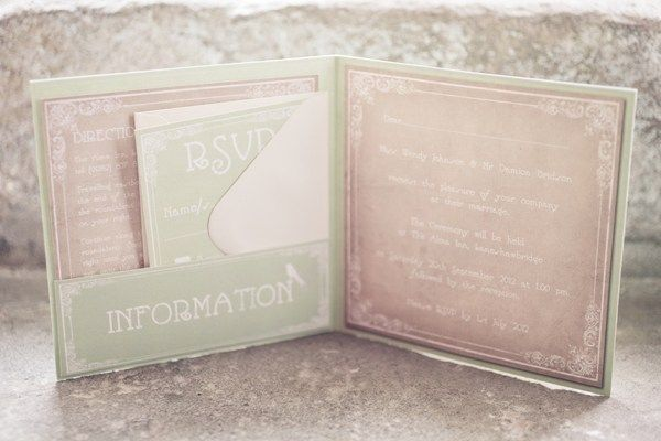 Vintage glamour in Lancashire - Autumn weddings - invites