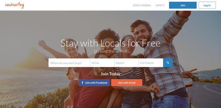 Αφού γνωρίσαμε το Airbnb, ώρα να γνωρίσουμε και το Couchsurfing. Η χώρα προέλευσης ίδια και η λογική παρόμοια, με μια σημαντική διαφορά… Είναι δωρεάν! Ξεκίνησε το 2004 με έδρα την Αμερική και συγκεκριμένα (surprise, surprise) το Σαν Φρανσίσκο. Πρόκειται για μια τεράστια, παγκόσμια κοινότητα όπου ο χρήστης μπορεί είτε να παρέχει δωρεάν φιλοξενία σε ταξιδιώτες, …