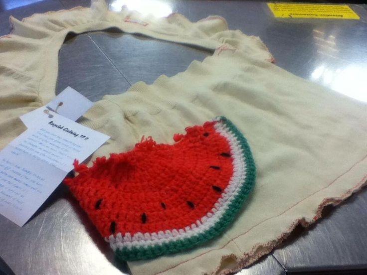 Hand crafted Watermelon bag by Q2 Creations #YYC #Upcycle