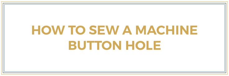 Have you wondered how to sew a machine button hole? In this video tutorial, I show you how to sew a machine button hole on a Bernina 1008 sewing...