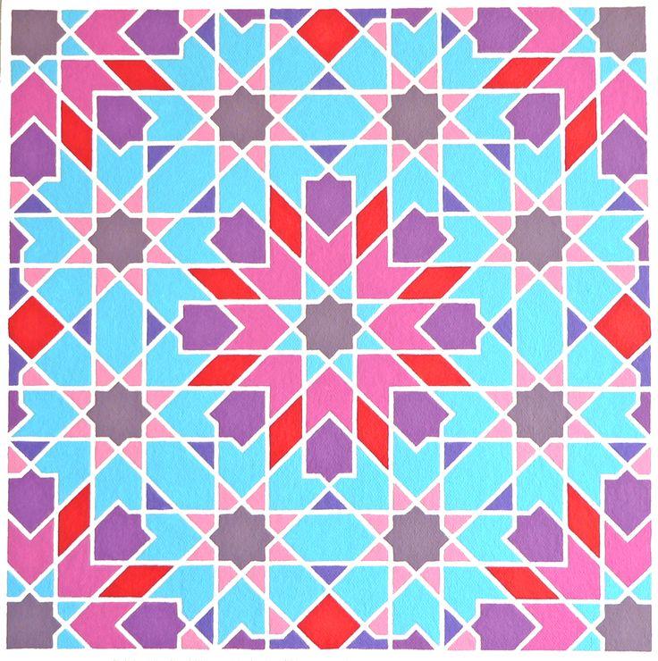 'Marokko 3' - Painting by Ton Ensink 30 x 30 cm , Acrylic paint on canvasboard.