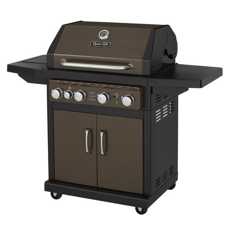 Dynaglo bronze 60000 btu 4burner propane gas grill with