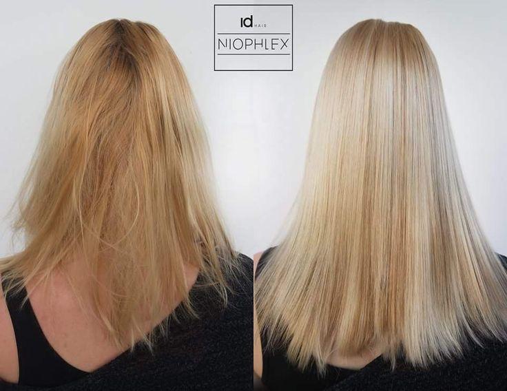 Fijnhaar ontkleuren en inkleuren met verbetering van de kwaliteit van het haar? Dat kan nu met Niophlex @niophlexbenelux #mooihaar #gezondhaar