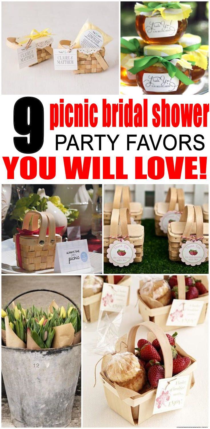 Bridal Shower Favors! Picnic bridal shower party favor ideas. The best ideas for a Picnic theme bridal shower party. Your guests will love to take home any of the Picnic items from goodie bags, to wine glasses and more. Find the best Picnic bridal shower favors now!