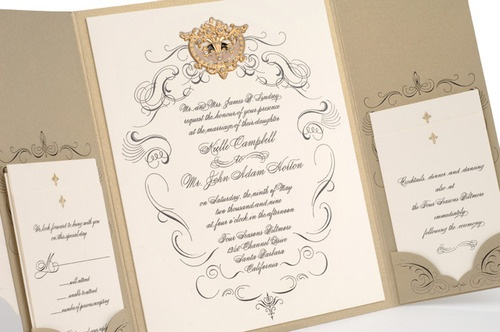 Incredibly Gorgeous Couture Wedding Invitations by Lehr and Black