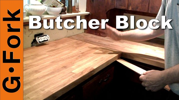 Here's an Ikea butcher block countertop installation in our kitchen. We removed the old countertop and did the butcher block installation in one day, a prett...