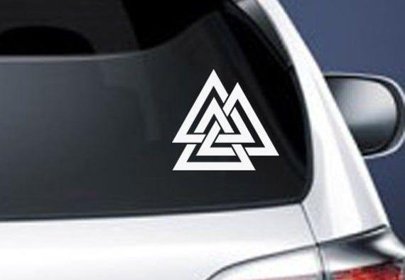 Viking Valknut rune symbol Vinyl Car Window Laptop Decal Sticker