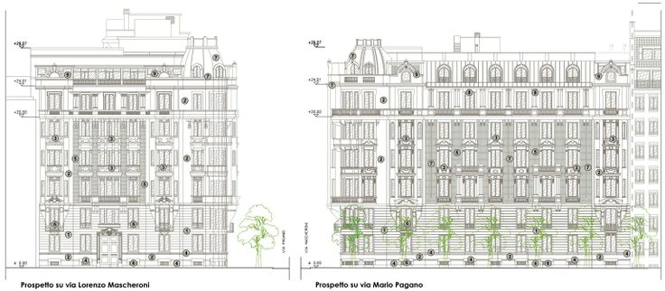 Historical Building in Milan. Italy. Project by Fabio Carria Architect  2011 Palazzo Troubezkoy .