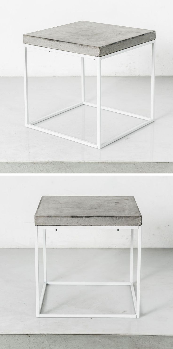 Wood dining with wrought iron quot clasp quot base very popular dining - Industrial Interior Design Idea Concrete And Steel Tables This Table With A Simple