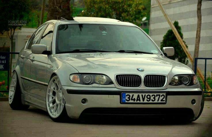 BMW E46 3 series silver stance
