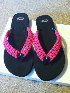 Paracord flip-flops hope they come in blue