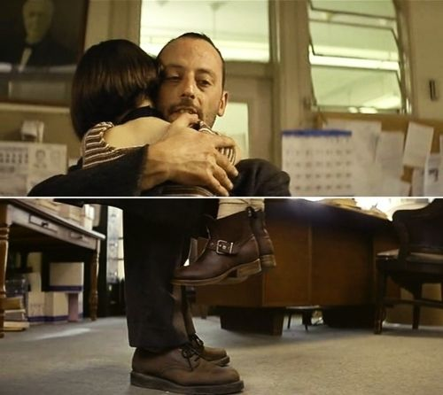 Natalie Portman's dangling boots... Just about the most adorable scene ever. The Professional c.1994