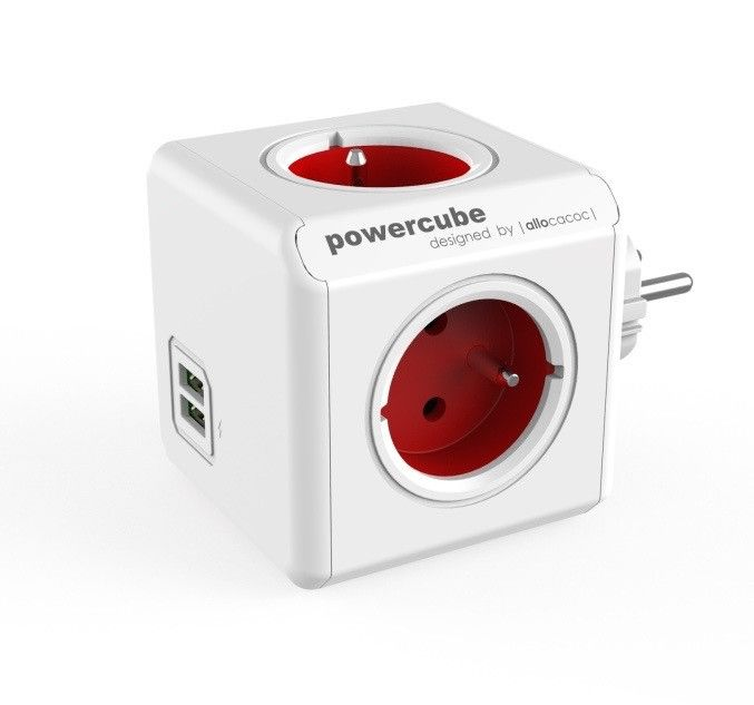 The powercube is a must have for the dorm room there are never enough outlets and the powercube has four plus two usb ports this powercube plugs directly