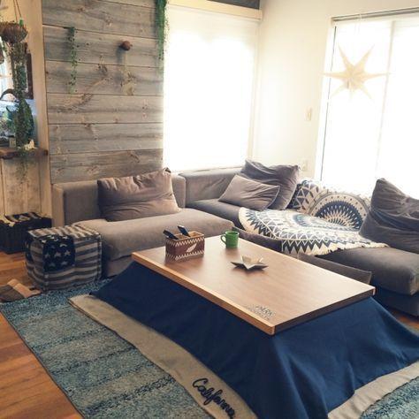 tommy39さんの、リビング,ソファー,IKEA,リビング,ハンドメイド,ニトリ,コタツ,カーペット,クリスマス,こたつ,WTW,ソファーまわり,のお部屋写真