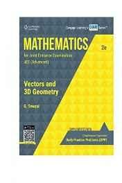 Mathematics for Joint Entrance Examination JEE (Advanced) Vectors & 3D Geometry Paperback ? Jan 2016
