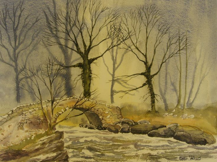 Pack Horse Bridge no 2 Water colour by      C Walters