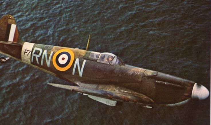 Spitfire over the English Channel,1940