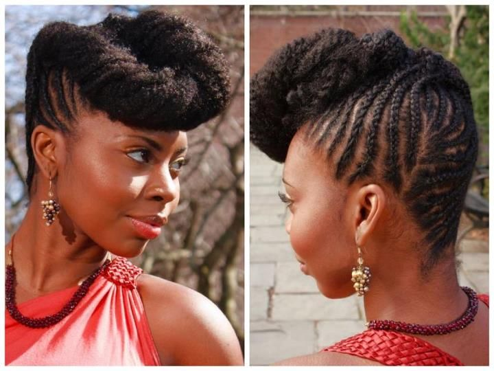 Natural Hair Braid Updo Styles: Best 25+ Natural Braided Hairstyles Ideas On Pinterest