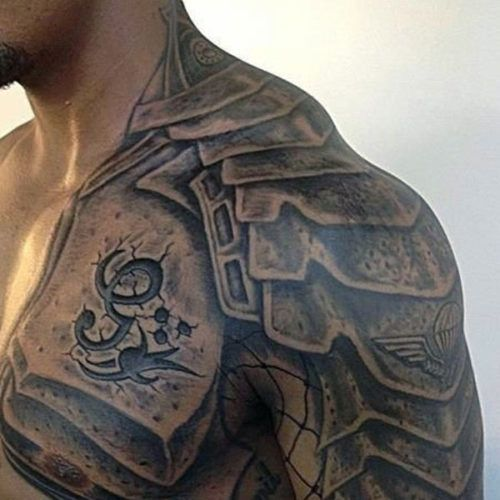 Chest to Arm Tattoos