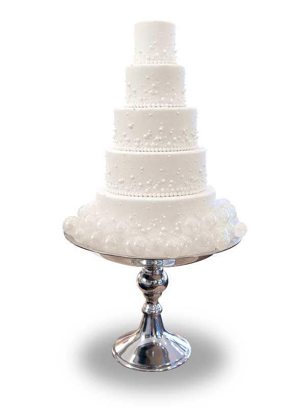 PuurTaart :: Taartengalerij - Bruidstaart - Wedding cake White Pearl