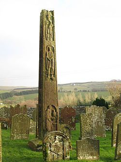 Bewcastle Cross - The cross is probably the work of the team of masons and sculptors brought in by Benedict Biscop from the 670s to expand the monastery of Monkwearmouth-Jarrow Abbey, then one of the leading centres of culture in the Kingdom of Northumbria