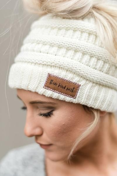 b52f791a3a29ea Cozy Messy Bun Beanies from Three Bird Nest are THE answer to crushing bad  hair days. Soft, cozy and cute knitted ponytail hats offer effortless  styling.