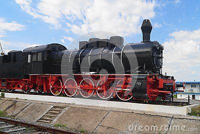 Old steam engine train, Romania