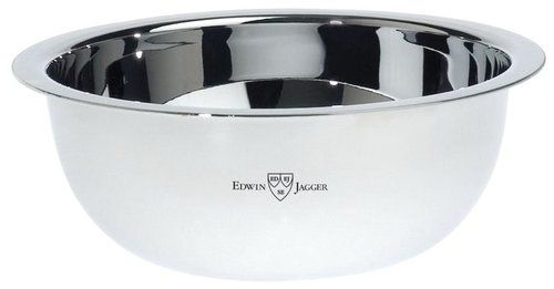 Edwin Jagger Polished Stainless Steel Shaving Bowl