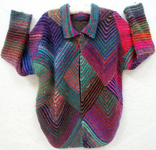 Fibermania: Mitered Diamond Jacket